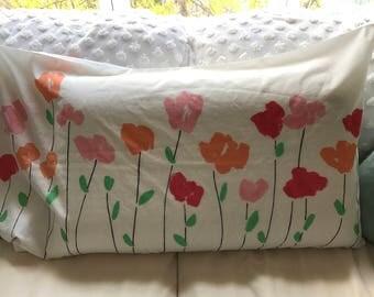 """1970s Vera Neumann King Sized """"Poppies"""" Pillowcase / Vera Pillowcase / 1970s"""