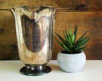 Vintage Prize Pitcher by Wm Rogers / Silver Award Trophy / Purinarays