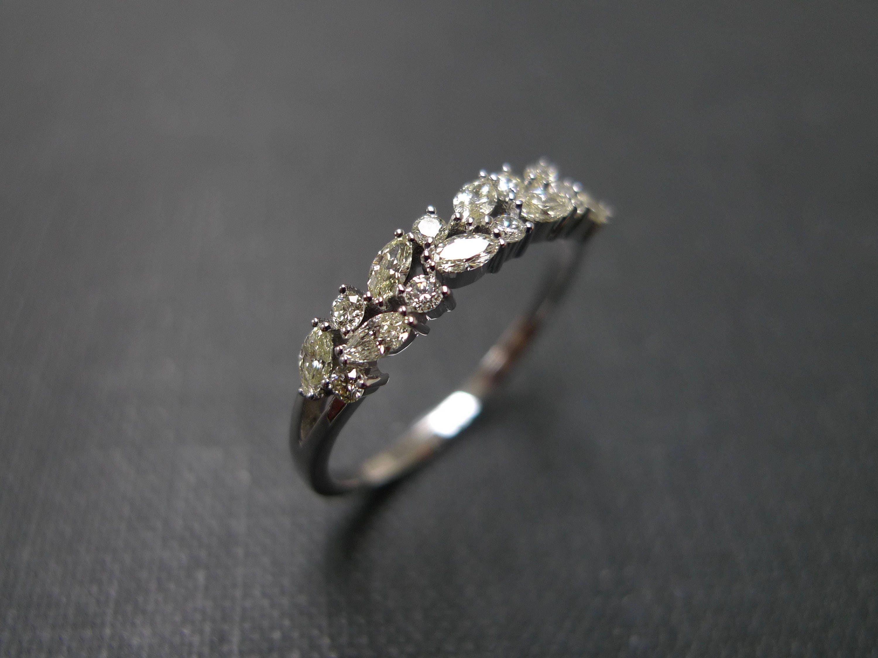 yellow diamond band marquise band 1 - Marquise Diamond Wedding Ring