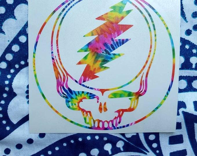 Grateful Dead Tie Dyed Vinyl Sticker Graphic Decal