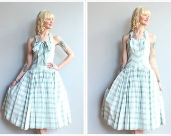 1950s Dress // Clifton Wilhite Chevron Party Dress // vintage 50s dress