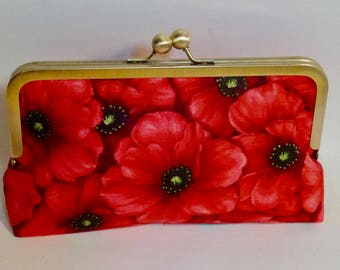 Bridesmaid Clutch |Wedding| Poppy Flower| Clutch