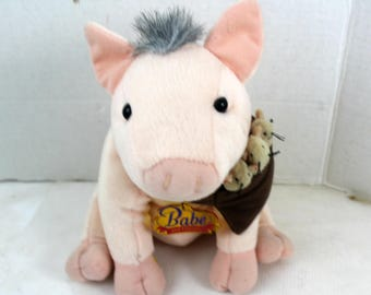Babe the pig plush stuffed animal childrens toy collectible