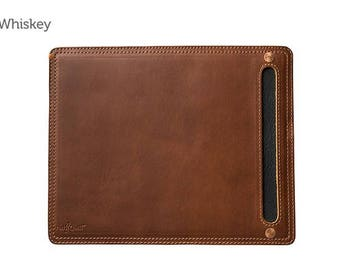 Whiskey Leather Mouse Pad & Desk Protector l Leather Mouse Pad