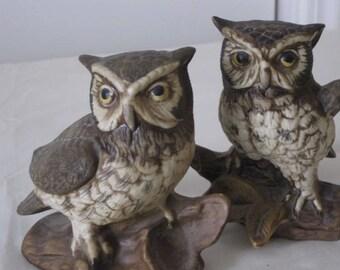 vintage Porcelain Owls - set of 2