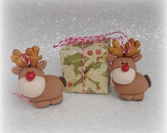 CHRISTMAS TREE DECORATION, Reindeer Xmas Festive Hanger