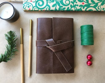Personalized Christmas gift for Husband, Lined Journal, Christmas gift for brother, Christmas gift for boyfriend, Leather Christmas Gifts