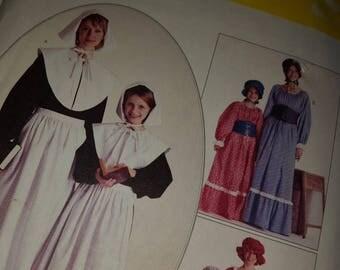 Costume Pattern, Halloween, Thanksgiving, Pioneer Days  - McCalls pattern #M7230, Cos-play,