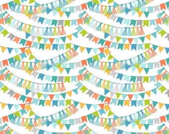 Calliope - Bannerline in Blue by Maude Asbury for Blend Fabrics