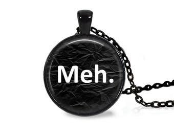 "25mm Meh. Cabochon Black 18"" Necklace"