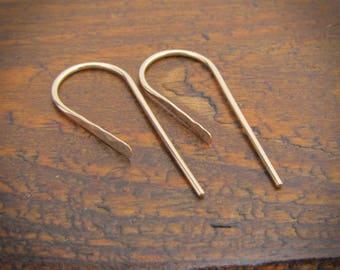 14/20 Gold Filled Earrings / Small Earrings / Gold Hook Earrings / Yellow Gold Earrings / Bar Earrings / Ear Pins / Everyday Earrings 105333