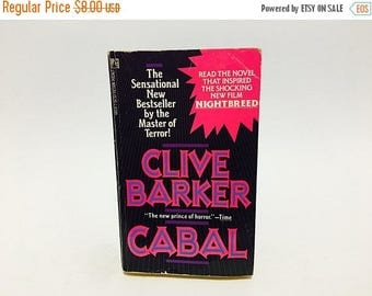 SUMMER BLOWOUT Vintage Horror Book Cabal by Clive Barker 1989 Edition Paperback