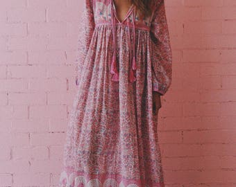 Indian cotton voile maxi in pink