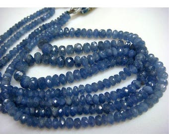 ON SALE 55% Sapphire - Sapphire Faceted Rondelles - 5mm To 3mm - 2 Strands - 14 Inches Each - 150 CTW