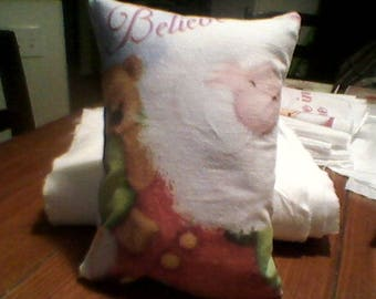 8x10 inch Accent pillow santa believe