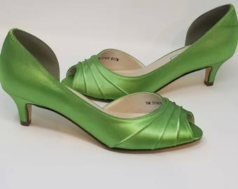 Green Wedding Shoes Green Bridal Shoes Apple Green Wedding Shoes PICK FROM 100 COLORS Apple Green Bridesmaid Shoes