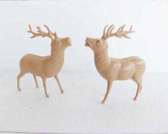 Vintage Irwin Reindeer,  Plastic Deer, Christmas Decorations,  Christmas in July