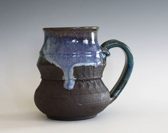 Pottery Coffee Mug, 14 oz, ceramic cup, handthrown mug, stoneware mug, pottery mug, unique coffee mug, ceramics and pottery