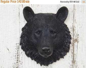 ON SALE Black  Bear Head~Nursery~Bear Head Wall Decor ~Your Choice Color