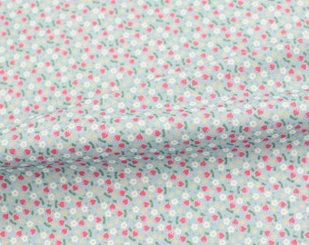 Digital Printed Tulips Cotton  by the yard (width 44 inches) 80664