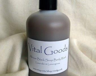 ON SALE Lemongrass & Lavender African Black Soap Body Wash