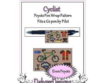 Bead Pattern Peyote(Pen Wrap/Cover)-Cyclist