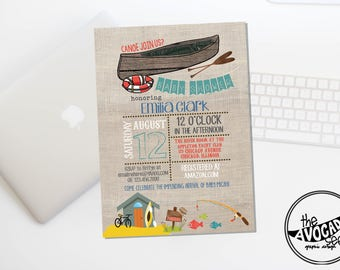 River Cabin Outdoor Baby Shower (or any event) - DIY Printing or Professional Prints via Convo