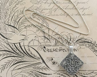 Silver Locket Necklace | Unique Lockets | Viking Ship Pendant