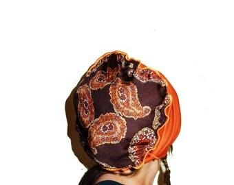Tam with mandala, bohemian for dreadlocks, dreadlock tam, hat