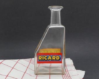 Vintage Ricard Pastis Glass Water Carafe Bottle French Bistro Barware Vase