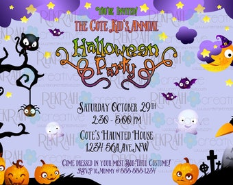 Printable 5x7 Halloween Party Invitation