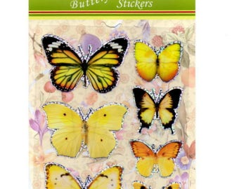 Yellow butterflies for your cards or scrapbooking decorations