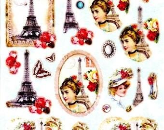 010 - 1 leaf die cut images of Paris
