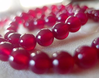6mm Rose Agate Round Stone Beads, full strand, 15 inches.