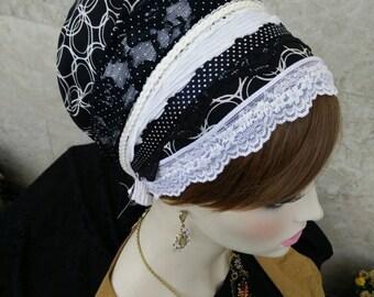NEW  jewish head wrap, lace cover, jewish headcovering, Tichel, head bandana, hair wraps, kopfbedeckung, by oshratdesignz