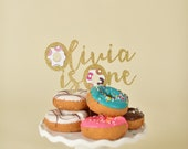 Donut Cake Topper - Donut Grow Up Party - Donut First Birthday - Donut Party Decorations - Donut Party Supplies - Donut Topper