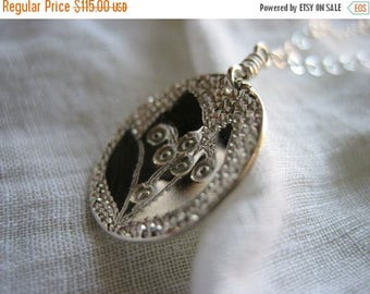 SALE Lily Of The Valley Sterling Silver Necklace