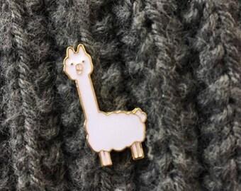 Enamel Pin - Alpaca