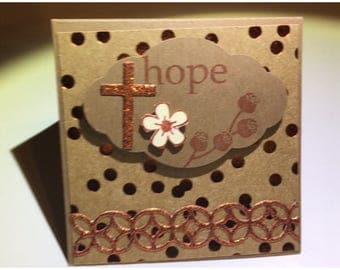 Handmade 6 Christian Mini note cards, small stationery cards with envelopes, 3X3 mini cards with envelopes.