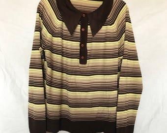 Vintage K-Mart Knit Collared Sweater