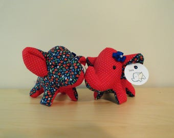 Tiny Stuffed Best Friends Elephants- Cora and Sora