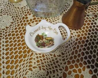 Vintage Carmel - by-the-Sea California Tea Bag Holder - Sheltonian China Bone China Staffordshire England