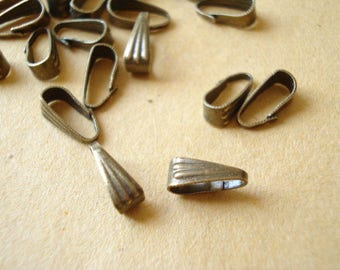300 Bulk Antiqued Brass Chain Bails 8.5x3.5mm A-106