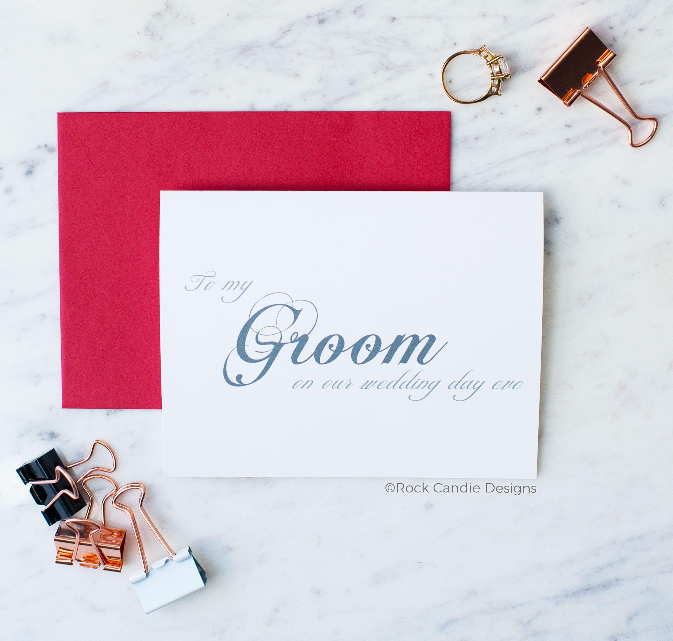 To My Groom On Our Wedding Day Eve Card | Sweet Card To Give To Your ...