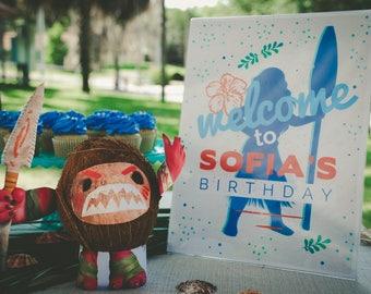 Moana birthday decorations