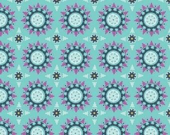 Dodi Lee Poulsen for Riley Blake Designs - LULABELLE - Medallion in Mint - Cotton Fabric - 1 yard