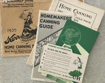 Vintage Canning Paper Pack Ball Kerr How to Can