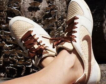 90's Nike White Woven Dunks Summer Shoes