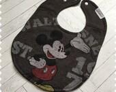 Mickey Mouse Recycled T-Shirt Bib, Disney Baby Shower, Disney Baby, Mickey Mouse Baby, Baby Shower Gift, Baby Boy