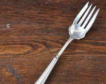 Vintage Sterling Cold Meat Fork / four tine Silver Serving